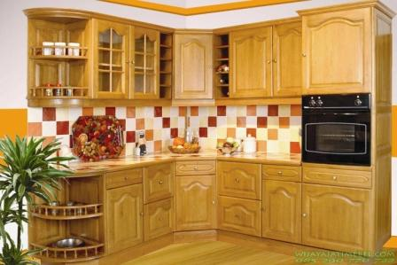 Kitchen Set Natural Jati Tua Minimalis Wijaya Jati Mebel